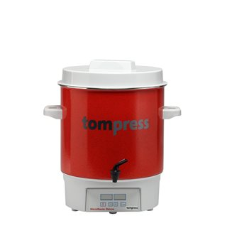 Digital enamelled Tom Press steriliser with a tap - small model - 16 litres