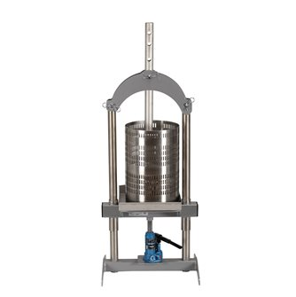 Hydraulic fruits press 18 liters in steainless steel