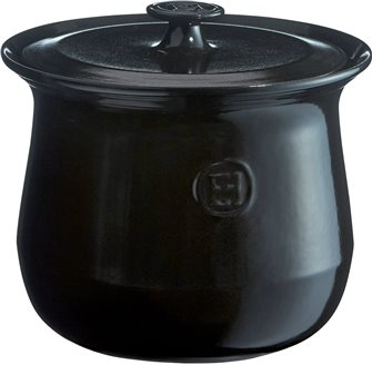 Ceramic pot 3,7 l. anthracite Charcoal Emile Henry