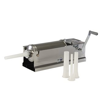 Horizontal 5 litre Reber stainless steel meat stuffer