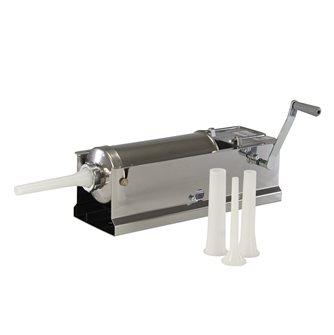 Horizontal 5 litre Reber stainless steel meat stuffer
