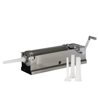 Horizontal 6.5 litre Reber stainless steel meat stuffer