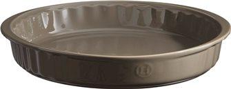 Emile Henry ceramic gray flint plate 28 cm