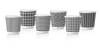 Set of 6 Espresso cups Pop Gray