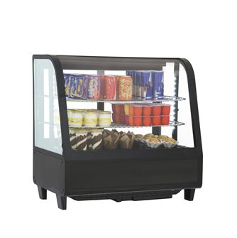 Refrigerated display case 100 l black