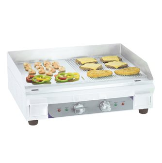 Smooth griddle - grooved electric 60 cm 3600 W stainless steel