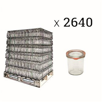 Verrines Weck 140 ml per pallet of 2640
