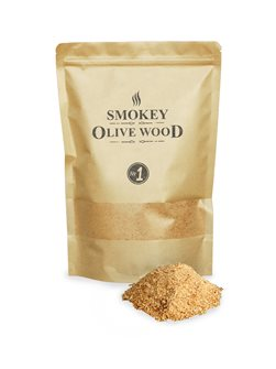 Pack of olive sawdust for smoking room