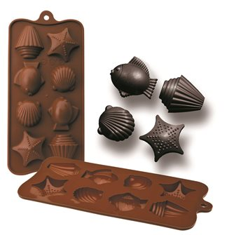 Chocolate mold 8 marine silicone subjects