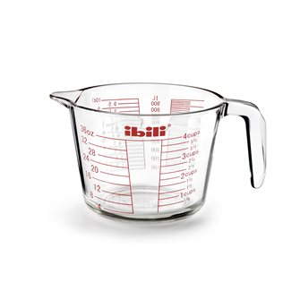 Graduated measuring cup 1 liter glass with handle