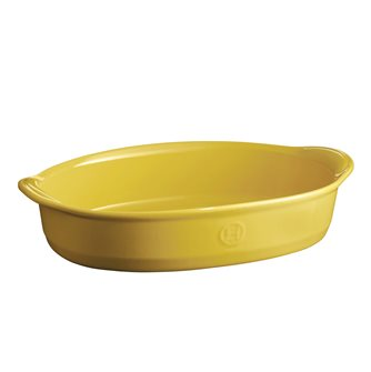 Ultimate oval oven dish 41 cm yellow Provence ceramic Emile Henry