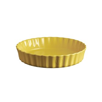 Emile Henry yellow Provence ceramic pie 28 cm