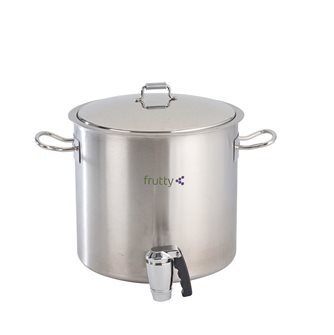 Double wall cooking pot - 18 litres - with tap