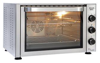 Four 38 litres pâtissier 270°C 2 500 W avec grilles lèchefrite et tournebroche