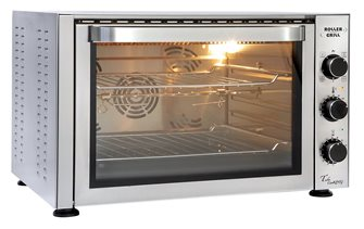 Oven 38 liters pastry chef 270 ° C 2,500 W with grill grates and rotisserie