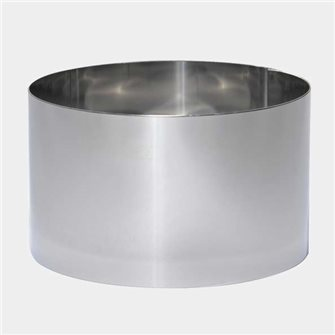 High circle for surprise bread panettone and wedding cake stainless 12 cm and 8 cm high