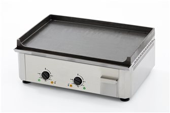 Electric plancha cast iron 20 mm 60x40 cm professional 3500 W stainless steel frame made in France
