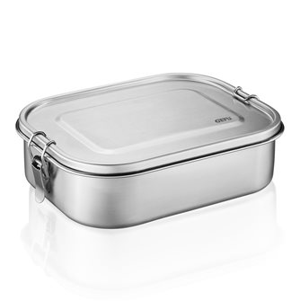 Meal box or lunch box 18 cm stainless steel