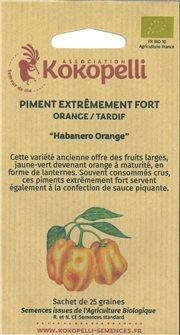 Habanero Orange Pepper Seeds