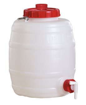 Cylindrical food grade keg - 15 litres